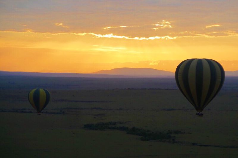 1. Hot Air Balloon in Kenya