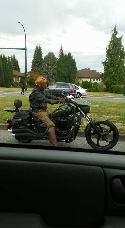 Saw this guy on Cambie St. An Ode To The Rocketeer